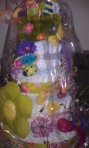 Diaper Cake Wrapped and Ready