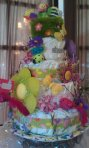 Diaper Cake for Garden Theme