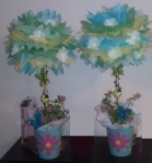 Topiaries used for gift table accents
